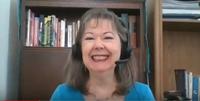 Linda-Ann Stewart speaking virtually