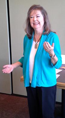 Linda-Ann Stewart speaking