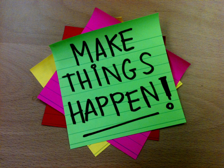 Make Things Happen PostIt Note